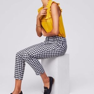 Black and White Gingham Pants